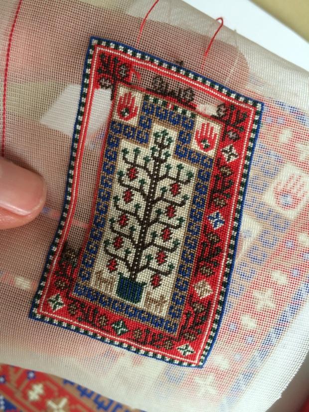 miniature Baluchi prayer rug
