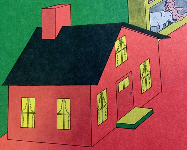 Clement Hurd's illustration of the little toyhouse
