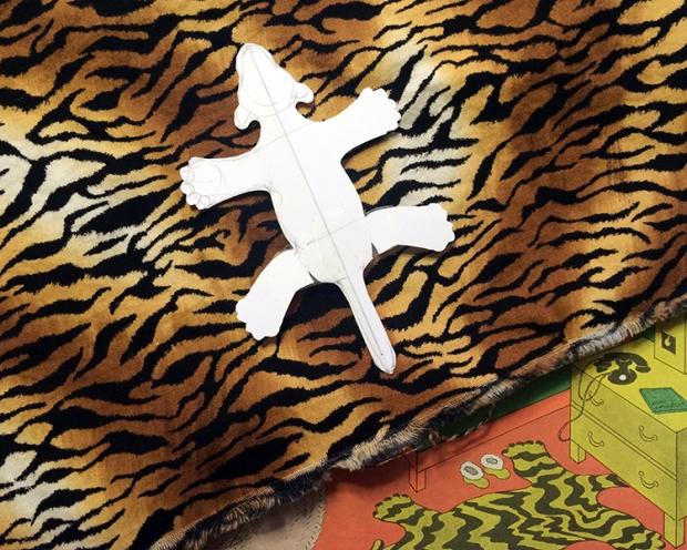 Printed tiger skin?