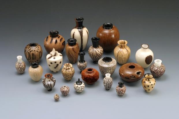 Miniature wood vessels by Joshua Salesin, 2005