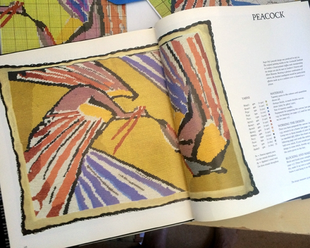 Roger Fry's original 1914 design was worked on 10-count double mesh canvas, and measured 22 xx 15 inches (55.9 x 38.1 cm).