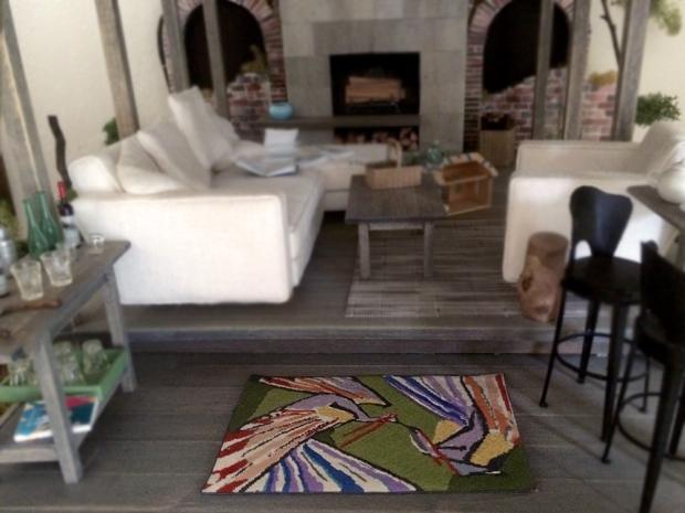 modern miniatures peacock rug